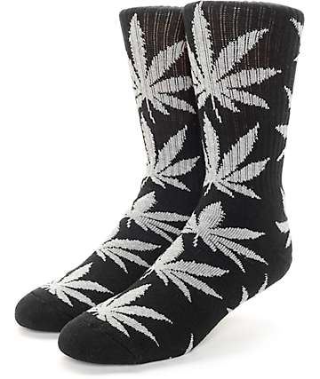 HUF Plantlife Black & Grey Crew Socks