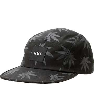 HUF Plantlife Black 5 Panel Hat