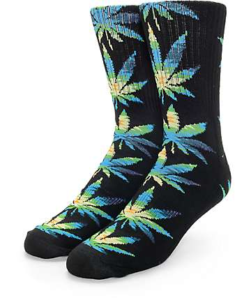 HUF Plantlife Cabazon Black Crew Socks