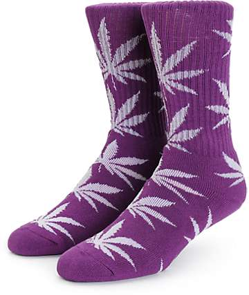 HUF Plantlife Glow In The Dark Crew Red Socks
