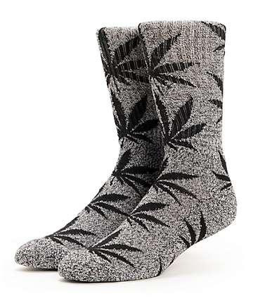 HUF Plantlife Heather Grey & Black Crew Socks