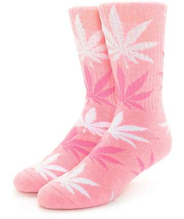 HUF Plantlife Heather Pink Crew Socks