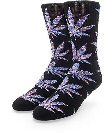 HUF Plantlife Melange Black & Blue Crew Socks