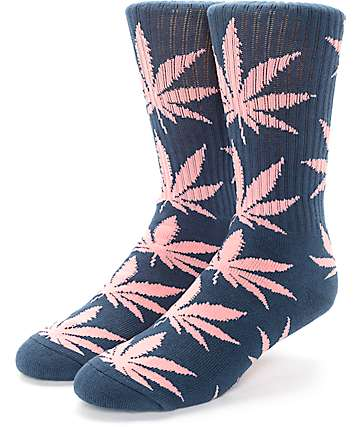 HUF Plantlife Midnight & Pink Crew Socks