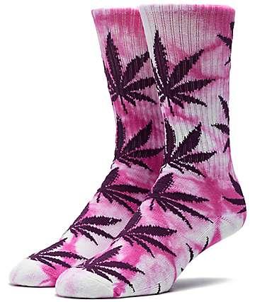 HUF Plantlife Pink & Purple Tie Dye Crew Socks