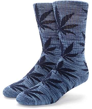 HUF Plantlife Streaky Navy Crew Socks
