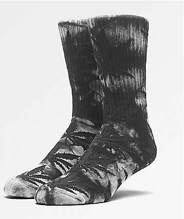 HUF Plantlife calcetines con efecto tie dye en blanco y negro