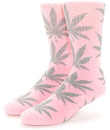 HUF Plantlife calcetines en gris y rosado