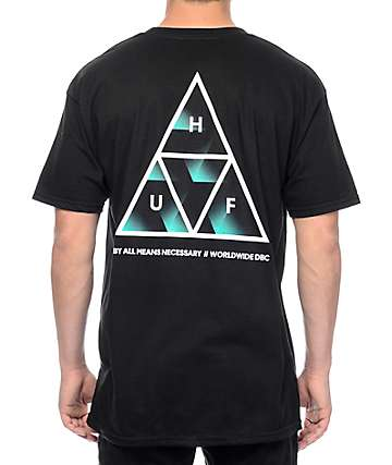 HUF Premiere Triple Triangle Black T-Shirt