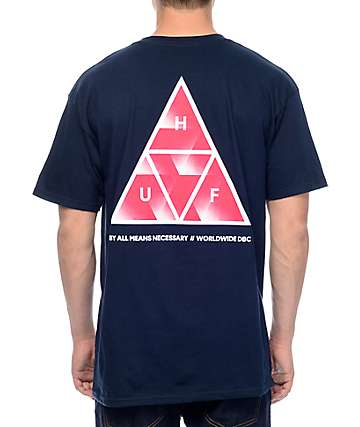HUF Premiere Triple Triangle Navy T-Shirt