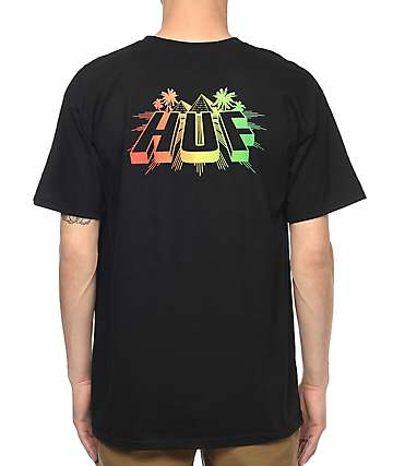 HUF Pyramid Black T-Shirt