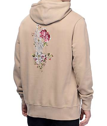 HUF Rose Hand Overydyed Embroidered Hoodie
