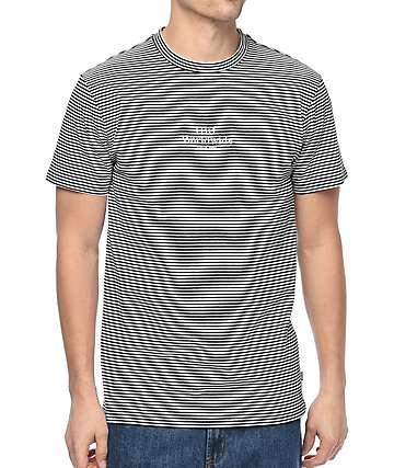 HUF Royale camiseta a rayas en blanco y negro