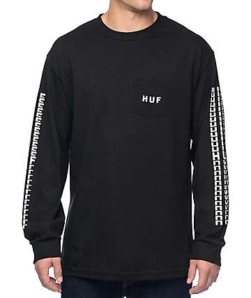 HUF Sante Black Long Sleeve Pocket T-Shirt