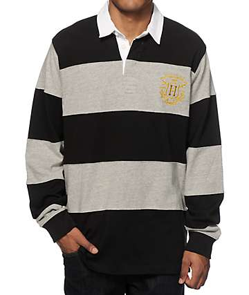HUF Scholar Rugby Long Sleeve Polo Shirt