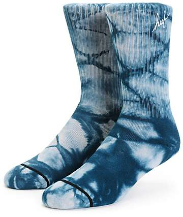 HUF Script Crystal Wash Crew Socks
