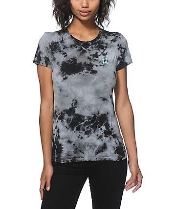 HUF Script Grey Crystal Wash T-Shirt