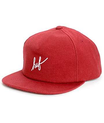 HUF Script Snapback Hat