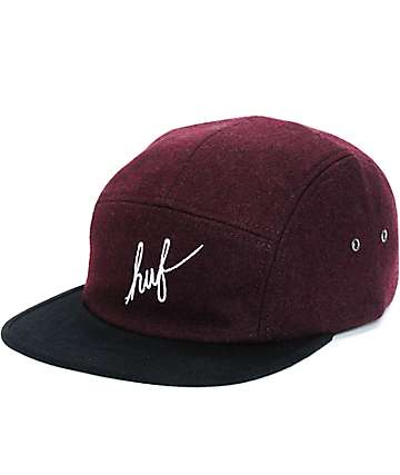 HUF Script Wool 5 Panel Hat