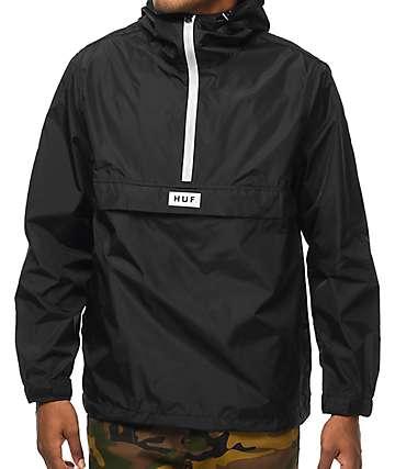 HUF Sequoia chaqueta anorak en negro