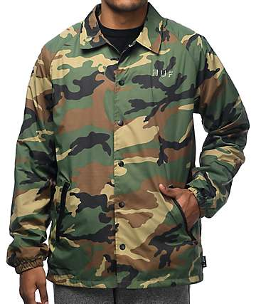 HUF Shadow Coaches Camo Jacket