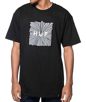 HUF Shattered Box Logo Black T-Shirt