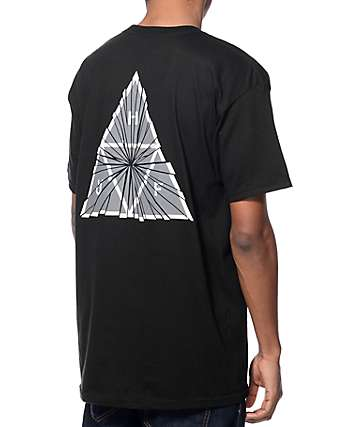 HUF Shattered Triple Triangle Black T-Shirt