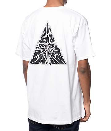 HUF Shattered Triple Triangle White T-Shirt