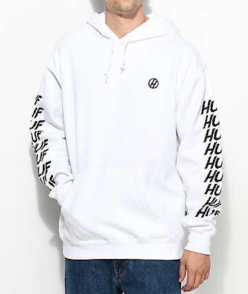 HUF Shocker sudadera blanca con capucha