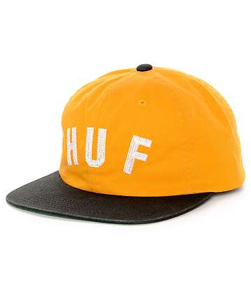 HUF Short Stop Gold Unstructured Strapback Hat