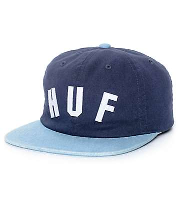 HUF Shortstop Navy Strapback Hat