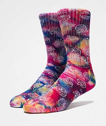 HUF Shrooms Tie Dye Crew Socks