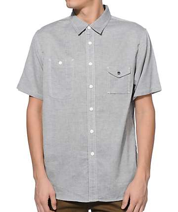 HUF Smoke Button Up Shirt