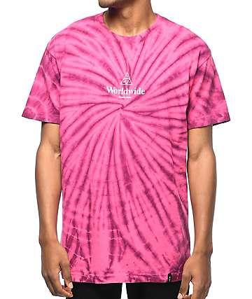 HUF Spiral Purple & Pink Tie Dye T-Shirt