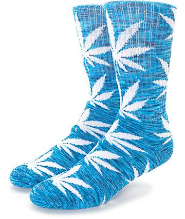 HUF Streaky Plantlife Blue & White Crew Socks