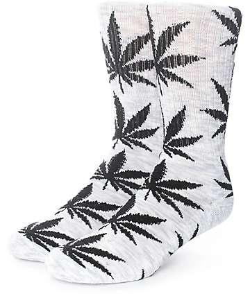 HUF Streaky Plantlife calcetines en gris y negro