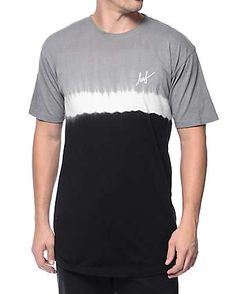 HUF Stripe Wash Black T-Shirt