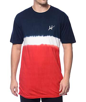 HUF Stripe Wash Red T-Shirt