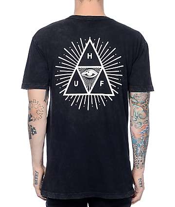 HUF Third Eye Mineral Wash Black T-Shirt