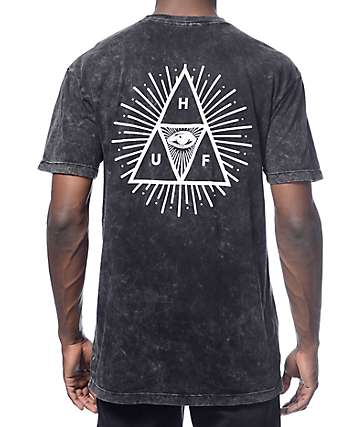 HUF Third Eye Triangle Black T-Shirt