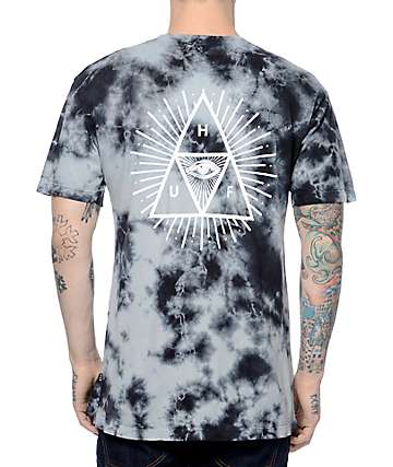 HUF Third Eye Triangle Crystal Tie Dye T-Shirt