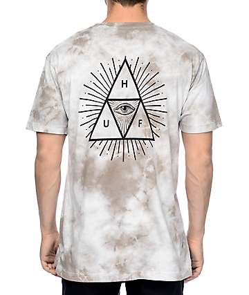 HUF Third Eye Triangle Grey Tie Dye T-Shirt