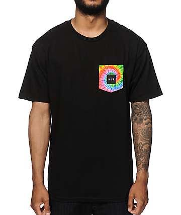 HUF Tie Dye Logo Pocket T-Shirt