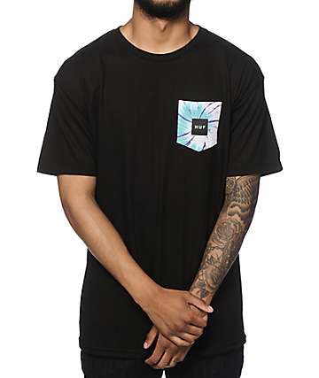 HUF Tie Dye Swirl Fill Pocket T-Shirt