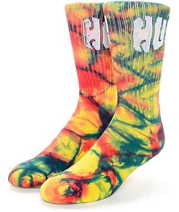 HUF Tie Dye Tie Dye Griffin Rainbow Crew Socks