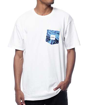 HUF Tie Dye White Pocket T-Shirt