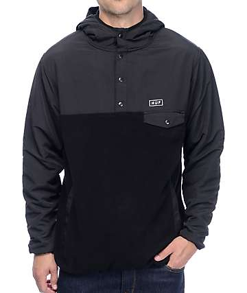 HUF Tofino Black Tech Fleece Hoodie