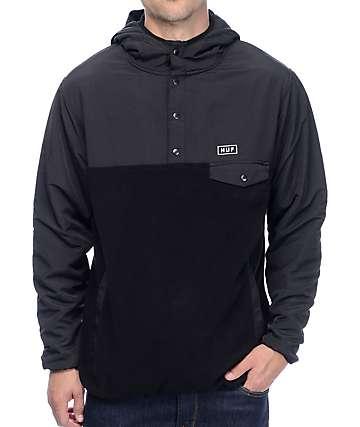 HUF Tofino sudadera polar con capucha en negro