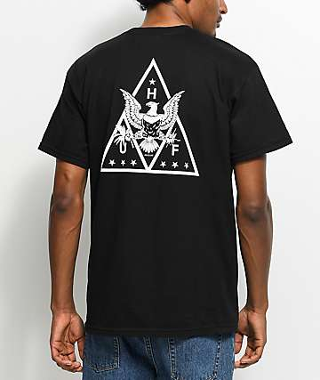 HUF Triangle Eagle Black T-Shirt