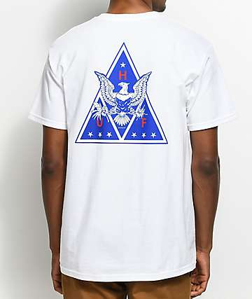 HUF Triangle Eagle camiseta blanca